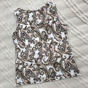 NWOT Croft & Barrow Paisley Tank Top